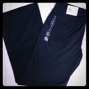 "Pants - GAP NWT black ""Perfect Khaki""wide leg Sz10R"